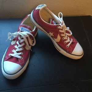 Converse red star low tops